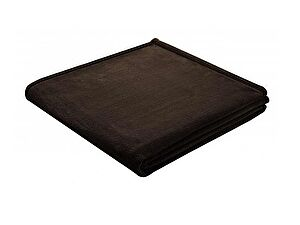 Плед Biederlack Solid Soft & Cover Dunkelbraun